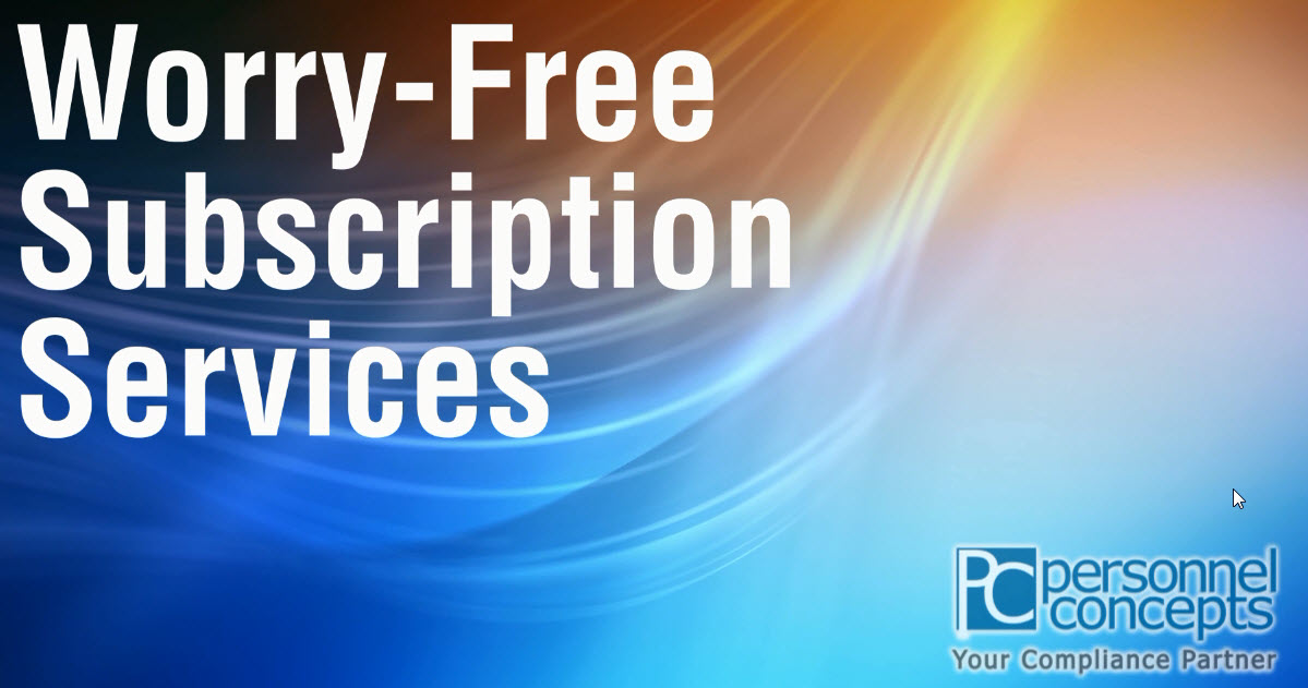 Worry-Free Subscriptions from Personnel Concepts